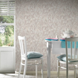 Papier peint Jungle perroquets blanc beige crème 372102- Greenery - AS CREATION