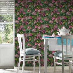 Papier peint Jungle amazonia rose vert 372801 - Greenery - AS CREATION