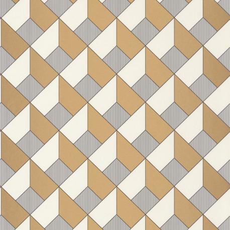 Papier peint Square Blanc Or -MONNLIGHT- Caselio MLG100129121