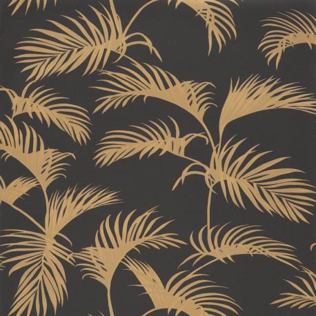 Papier peint Palm Jungle Jaune Noir -MOONLIGHT- Caselio MLG101252090