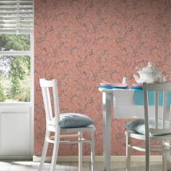 Papier peint feuillages rose orange 373354- Greenery - AS CREATION