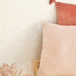 Papier peint Longevity blanc doré -MYSTERY- Caselio MYY101640000