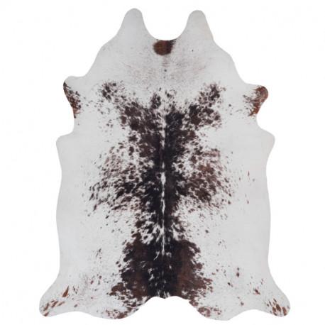 Tapis imitation peau de vache tâchetée marron et blanc - Toledo 191