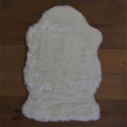 Tapis tout doux My Samba ivoire 55x85cm - forme peau de bête