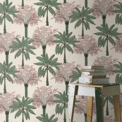 Papier peint Scandipalm Vert Rose -CLUB BOTANIQUE- Rasch 537819
