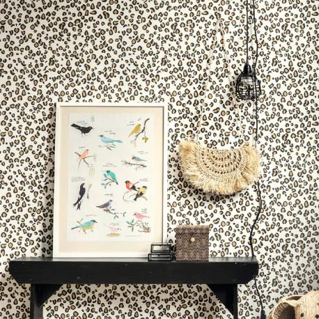 Papier peint Leopard Noir Marron -CLUB BOTANIQUE- Rasch 540246