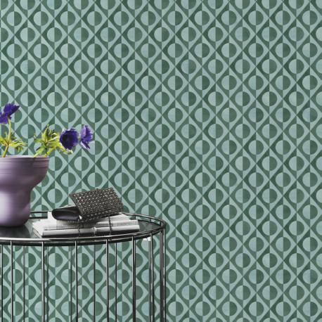 Papier peint Duovintage Vert -CLUB BOTANIQUE- Rasch 538656