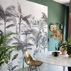 Panoramique Monkey Jungle Noir Blanc -CLUB BOTANIQUE- Rasch 539189