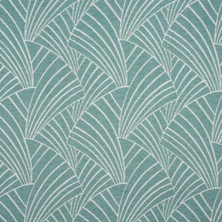 Rideau à œillets motif vert d'eau - ARDECO - Linder