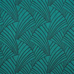 Rideau à œillets motif vert émeraude - ARDECO - Linder
