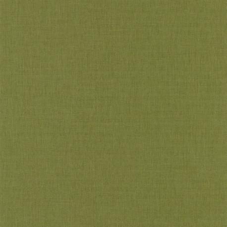 Papier peint uni vert sapin foncé - LINEN - Caselio