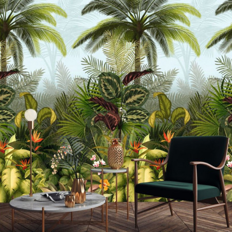 Panoramique BRANCA Jungle Fever vert - Collector - décor mural GRANDECO