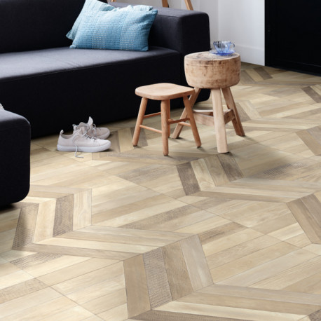 Revêtement PVC - Largeur 4m - CURSOR parquet chevron 533 - ultimate wood IVC