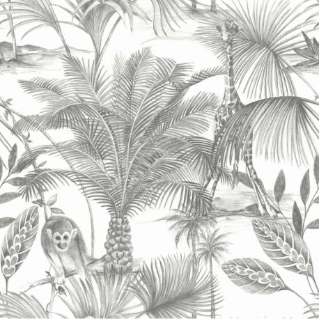 Papier peint à motif KIDATU noir JF3501 - JUNGLE FEVER - Grandeco