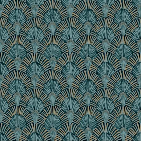 Papier peint à motif DECO FAN vert JF3001 - JUNGLE FEVER - Grandeco