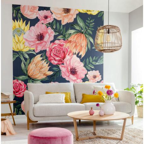 Papier peint à motif BLOSSOM multicolor FLP102026043 - FLOWER POWER - CASELIO
