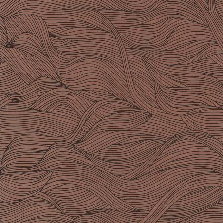 Papier peint à motif ALULA terracota B74360518 - BLOSSOM - Casamance