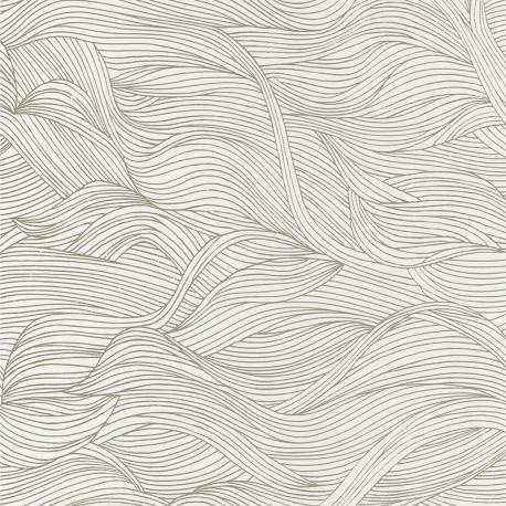 Papier peint à motif ALULA neige B74360110 - BLOSSOM - Casamance