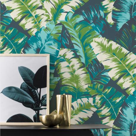 Papier peint Jungle turquoise - YUCATAN - Rasch - 535655
