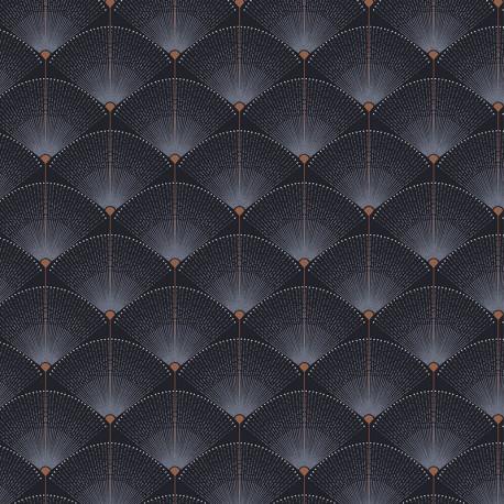 Papier peint Gala Indigo - 1001 Nights- ZOOM by Masureel NIG503