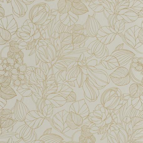 Papier peint Gravure amande et or - 1930 - Casadeco - 85727131