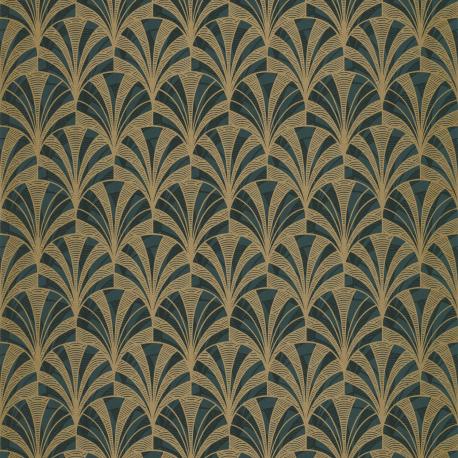 Papier peint Palmette vert - 1930 - Casadeco - 85737528