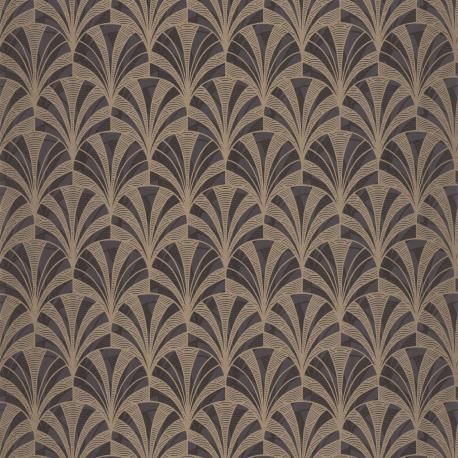 Papier peint Palmette noir - 1930 - Casadeco - 85739525
