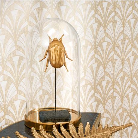 Papier peint Palmette beige - 1930 - Casadeco - 85731202