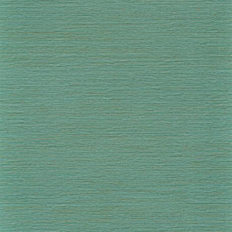 Papier peint Malacca vert Caraïbe - MANILLE - Casamance - 74642140
