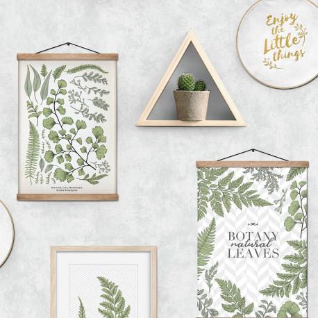 Papier peint Botany Natural Leaves herbier vert - Ugepa - L71704
