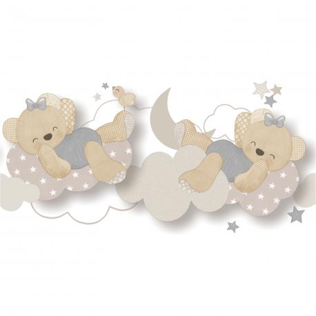 Frise Miss Ours gris - BABY LAND - Lutèce 5491