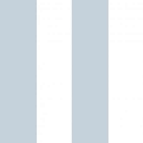 Papier peint Large Rayure bleu et blanc - BABY LAND - Lutèce 5473
