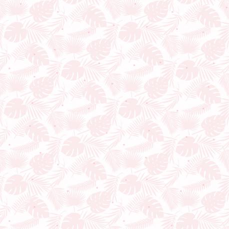 Papier peint Palme rose pâle pailleté - BABY LAND - Lutèce 21130