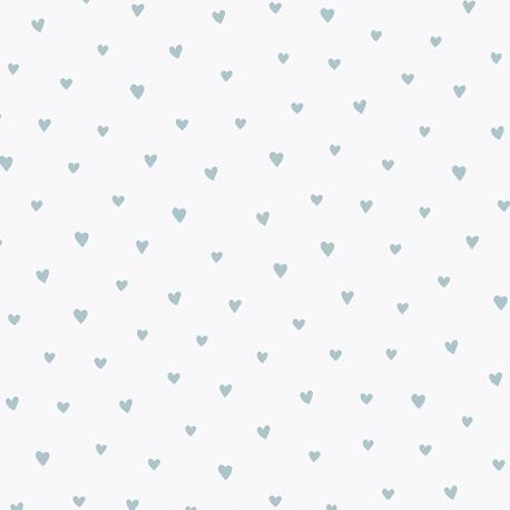 Papier peint Petit Cœur bleu - BABY LAND - Lutèce 21123