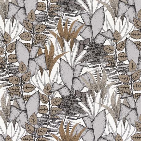Papier peint Tigris gris et blanc - ORPHEE - Casamance - 74731530