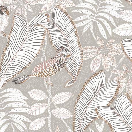 Papier peint Sibia gris - ORPHEE - Casamance - 74752250