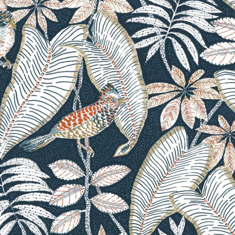 Papier peint Sibia marine - ORPHEE - Casamance - ORP74752352