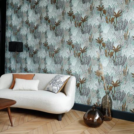 Papier peint Posidonie celadon - ORPHEE - Casamance - ORP74700100