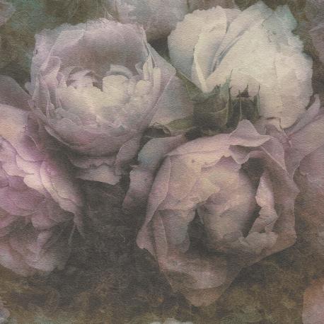 Papier peint Ornement Floral beige et cuivré  - AS Creation - 37681-1