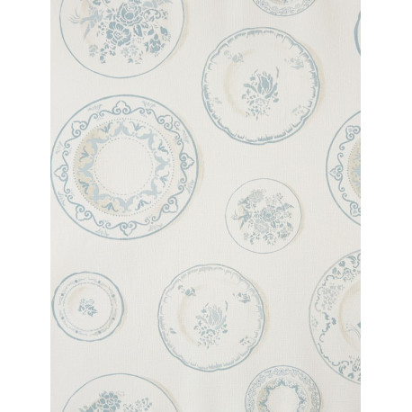 Papier peint Assiettes bleu - CAVAILLON - Caselio - CAV65049099