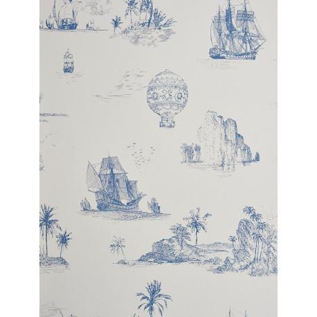 Papier peint Voyage bleu - CHANTILLY - Casadeco - CHT22956505