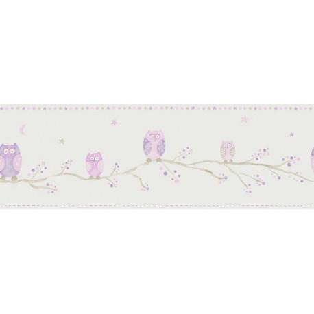 Frise enfant Chouettes mauve - ARC-EN-CIEL - Casadeco - CFT25524126