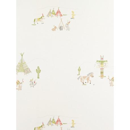 Papier Peint Indiens vert - ARC-EN-CIEL - Casadeco - CFT25466302