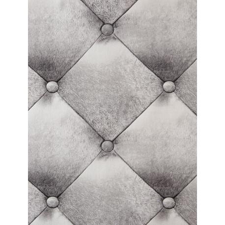 Papier peint  Capiton Grain cuir argent - METAPHORE - Caselio - MTE65629000