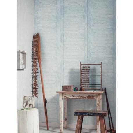 Papier peint Echelle Bois bleu - METAPHORE - Caselio - MTE65576060