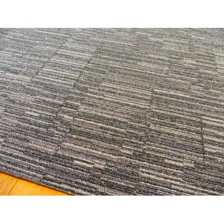 Dalle de moquette Consequence - gris/bleu - rayures