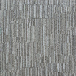Dalle de moquette LAYLINES - A rayures beige/gris.