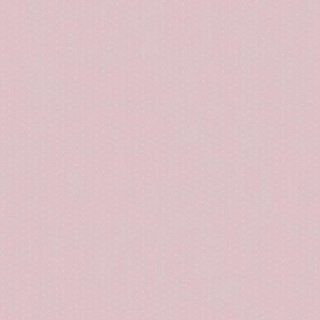 Papier peint ALICE et PAUL à pois fond rose - Casadeco