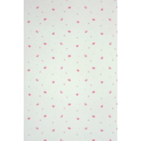 Papier peint ALICE et PAUL à motif papillons rose - Casadeco