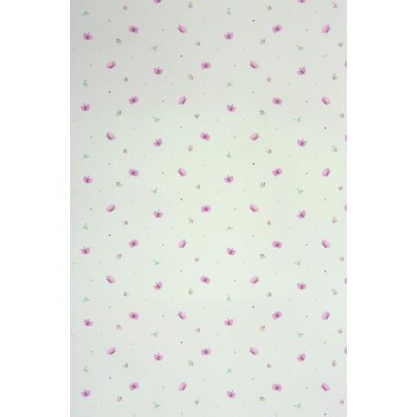 Papier peint ALICE et PAUL à motif papillons violet - Casadeco